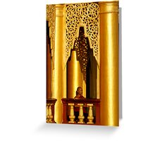 Shwedagon Monk Greeting Card
