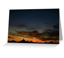 Ger Camp Sunset Greeting Card