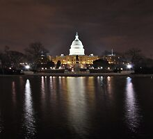 U.S. Capitol at Night - Washington DC by jwhimages