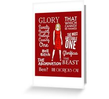 Glorificus - Buffy the Vampire Slayer Greeting Card