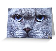 """Blue"" Greeting Card"