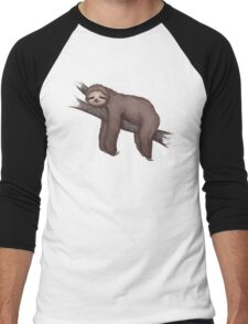 Sleepy Sloth Men's Baseball ¾ T-Shirt