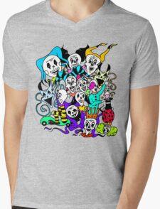Fool Pack Color Mens V-Neck T-Shirt