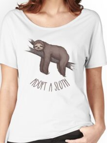 adopt a sloth Women's Relaxed Fit T-Shirt