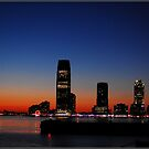 Sunset over Jersey City by Melinda  Ison - Poor