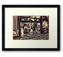 The Barista Framed Print