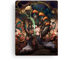 Gaia And Her Broken Hearts Recycling Machine  Canvas Print