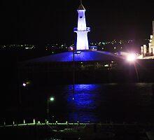 Cunningham Pier Geelong at night by John Carroll