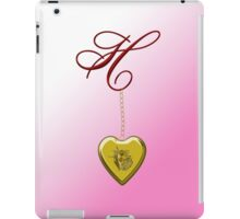 H Golden Heart Locket iPad Case/Skin