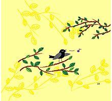 Singing Blackbird Photographic Print
