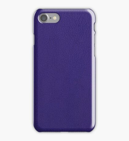 Violet leather texture iPhone Case/Skin