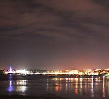 Geelong at night by John Carroll
