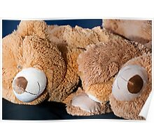 Snuggle Bears Holding Hands Poster