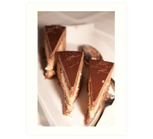 Chocolate cakes Art Print