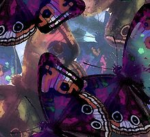 Abstracted Butterflies in Fauvist Colors #8 by Ivana Redwine