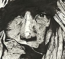 Man in Headdress by Stephen  Van Etten