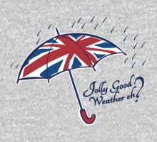 Union jack weather umbrella by Sarah Trett