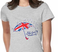 Union jack weather umbrella Womens Fitted T-Shirt
