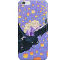 Rapunzel Riding Toothless iPhone Case/Skin