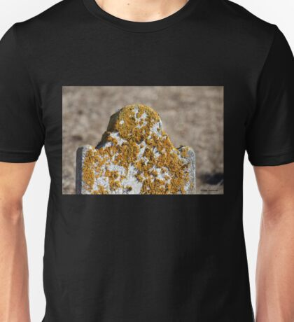 Tombstone with Yellow Lichen Unisex T-Shirt