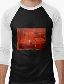 Box Car ~  Rusty Grunge Men's Baseball ¾ T-Shirt