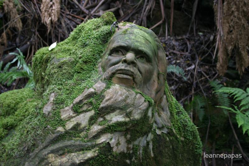 Aboriginal art sculptures in the Dandenongs by leannepapas