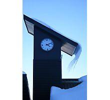 Clock at Mt Hutt Photographic Print