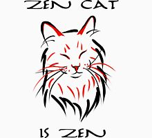 Zen Cat (With Text) Men's Baseball ¾ T-Shirt