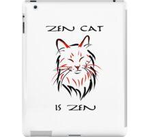 Zen Cat (With Text) iPad Case/Skin