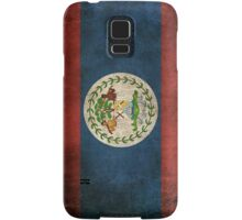 Old and Worn Distressed Vintage Flag of Belize Samsung Galaxy Case/Skin