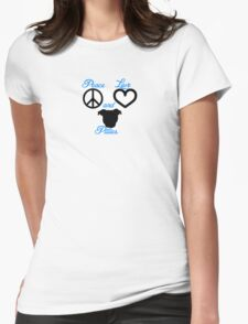 Peace Love and Pitties Womens Fitted T-Shirt