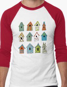 bird houses Men's Baseball ¾ T-Shirt