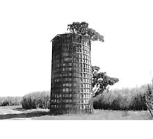 Dimpled Silo Photographic Print