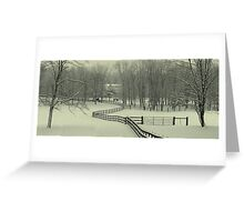 Ohio Snow Storm Greeting Card