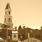 Freo Town Hall Clock Tower by sparkographic