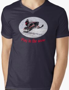 Play In the Snow Mens V-Neck T-Shirt