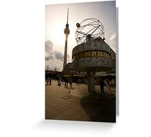 The World Clock Greeting Card