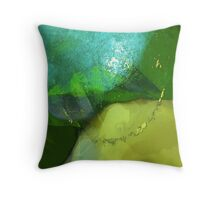 an extended kiss in green from a bird for a dying man #10 Throw Pillow