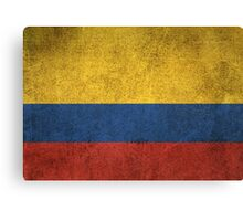 Old and Worn Distressed Vintage Flag of Colombia Canvas Print