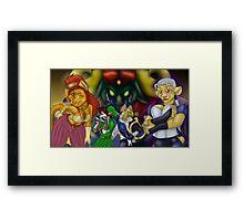 Furry Zelda Framed Print