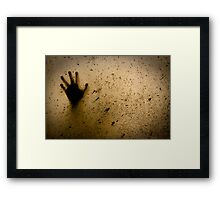 check the window!! Framed Print
