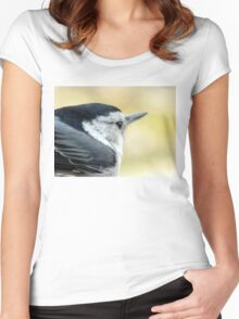 White-breasted Nuthatch (Sitta carolinensis) Women's Fitted Scoop T-Shirt