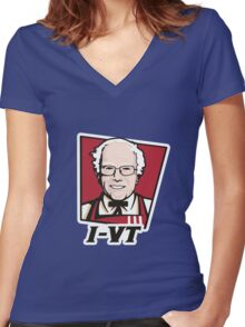 Col. Sanders Women's Fitted V-Neck T-Shirt
