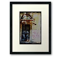 Graffiti on Faith Framed Print