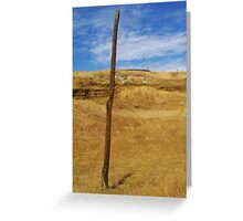 Dry and blue Greeting Card