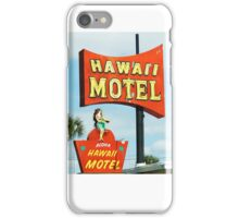 hawaii motel iPhone Case/Skin