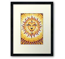 Leo  - shine your light into the world! Framed Print