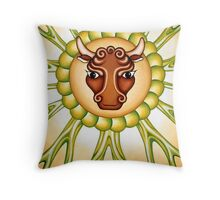 Taurus - take the bull by it's horns! Throw Pillow
