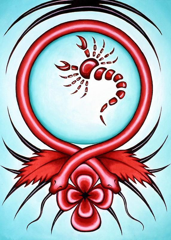Scorpio - brave the hottest deserts. by Sarah Jane Bingham
