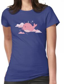 Tiny Floating Whale // Steven Universe Womens Fitted T-Shirt